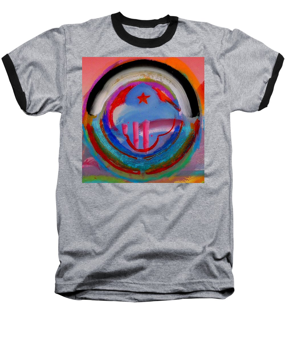 Logo Baseball T-Shirt featuring the painting Morning Light by Charles Stuart