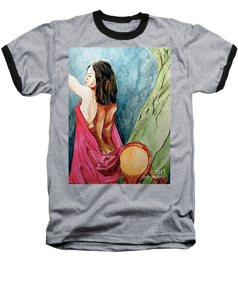 Nudes Women Baseball T-Shirt featuring the painting Morning Light by Herschel Fall