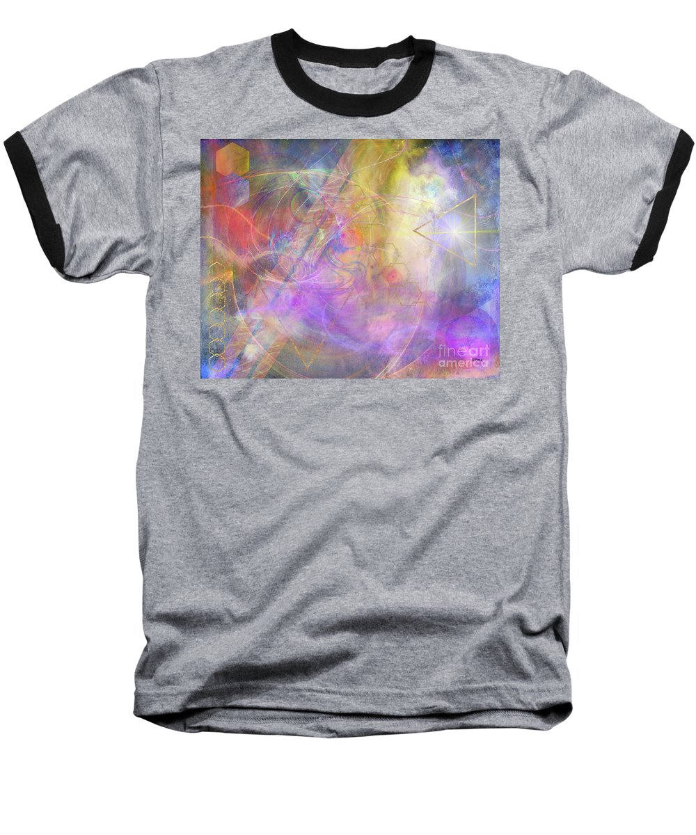 Morning Star Baseball T-Shirt featuring the digital art Morning Star by John Beck