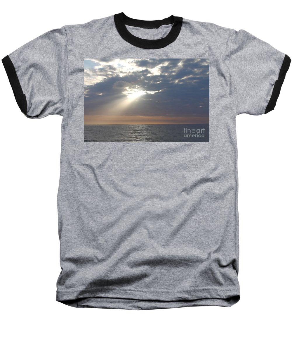 Sky Baseball T-Shirt featuring the photograph Morning Sunburst by Nadine Rippelmeyer