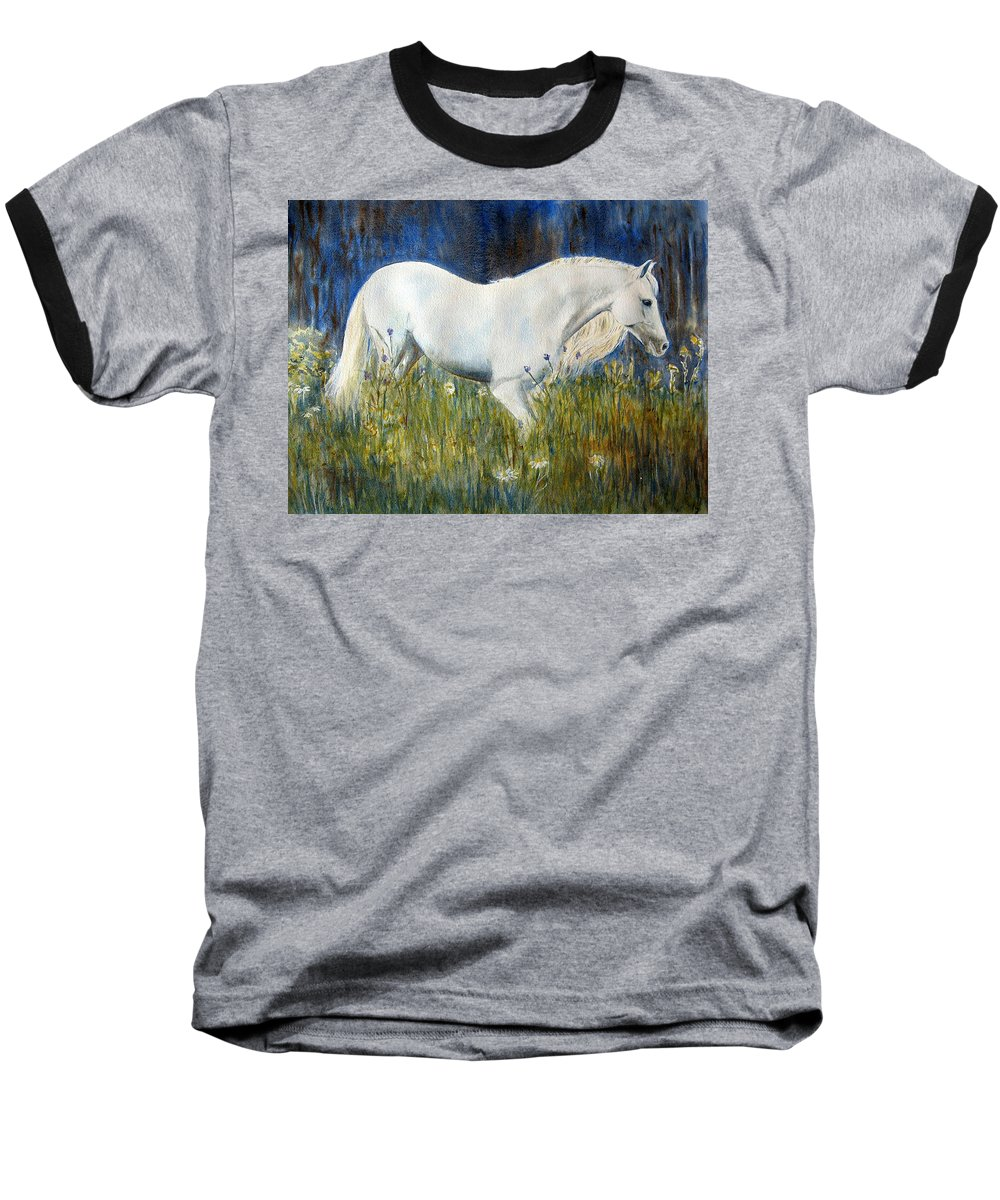 Horse Painting Baseball T-Shirt featuring the painting Morning Walk by Frances Gillotti