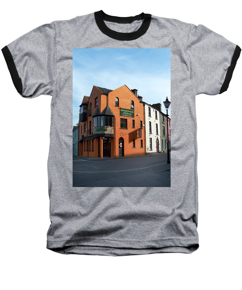 Ireland Baseball T-Shirt featuring the photograph Mother India Restaurant Athlone Ireland by Teresa Mucha