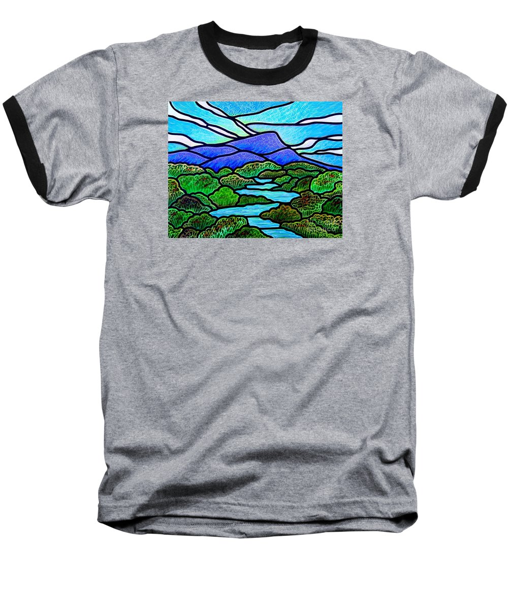 Paintings Baseball T-Shirt featuring the painting Mountain Glory by Jim Harris