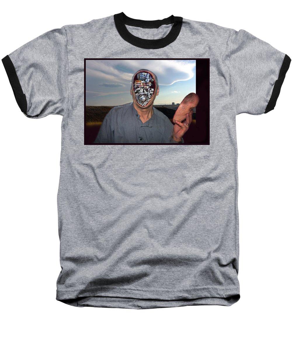 Surrealism Baseball T-Shirt featuring the digital art Mr. Robot-otto by Otto Rapp