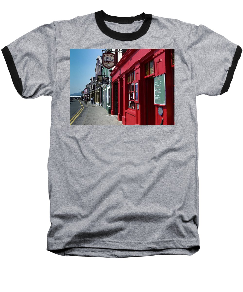 Irish Baseball T-Shirt featuring the photograph Murphys Bed And Breakfast Dingle Ireland by Teresa Mucha