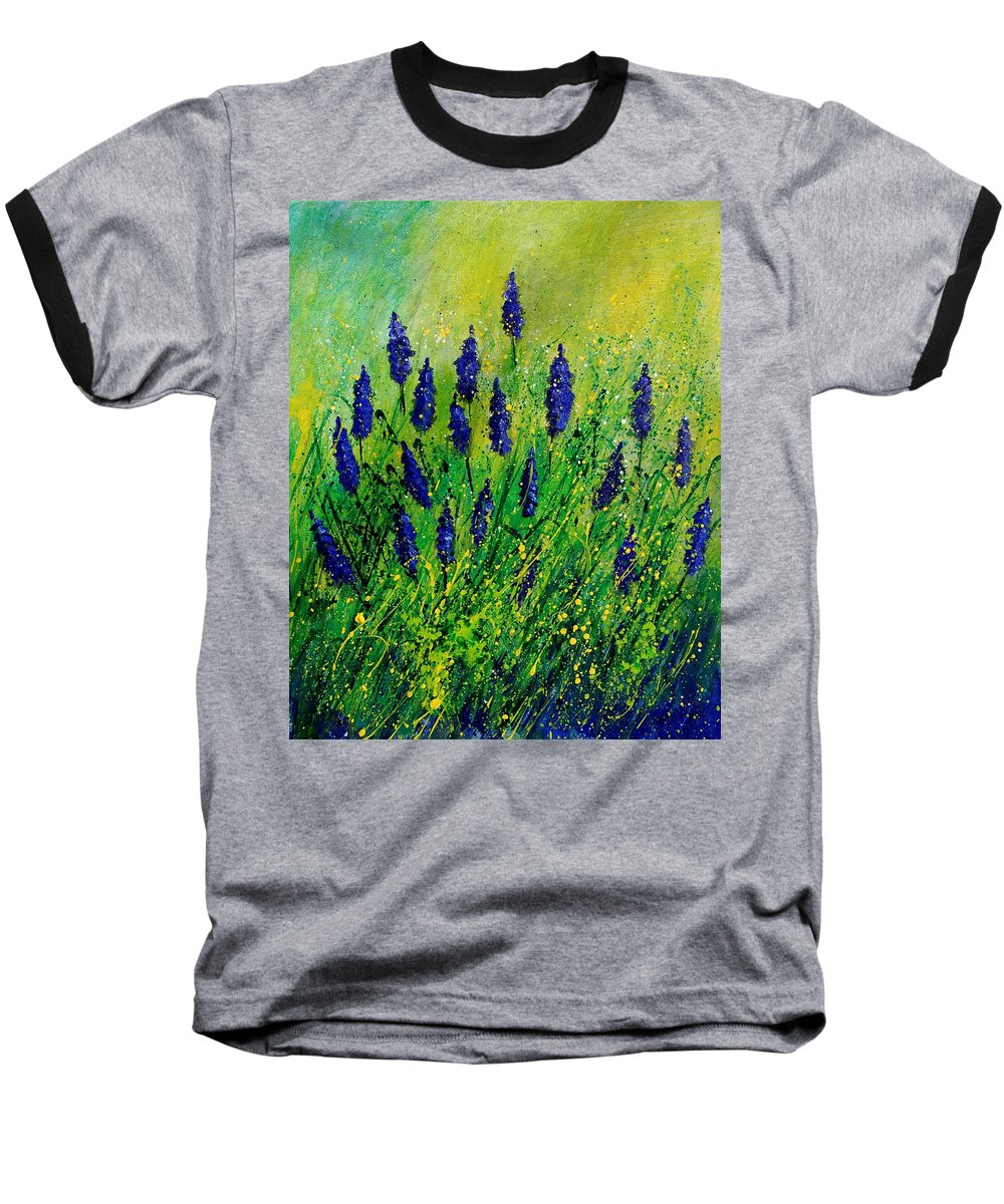 Flowers Baseball T-Shirt featuring the painting Muscaris 4590 by Pol Ledent