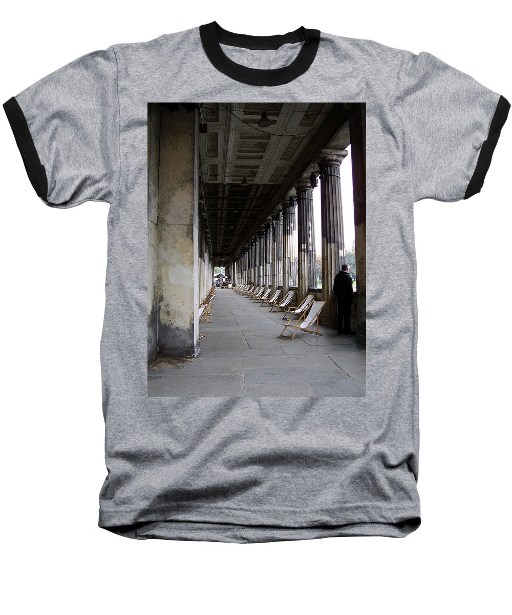 Museumsinsel Baseball T-Shirt featuring the photograph Museumsinsel by Flavia Westerwelle