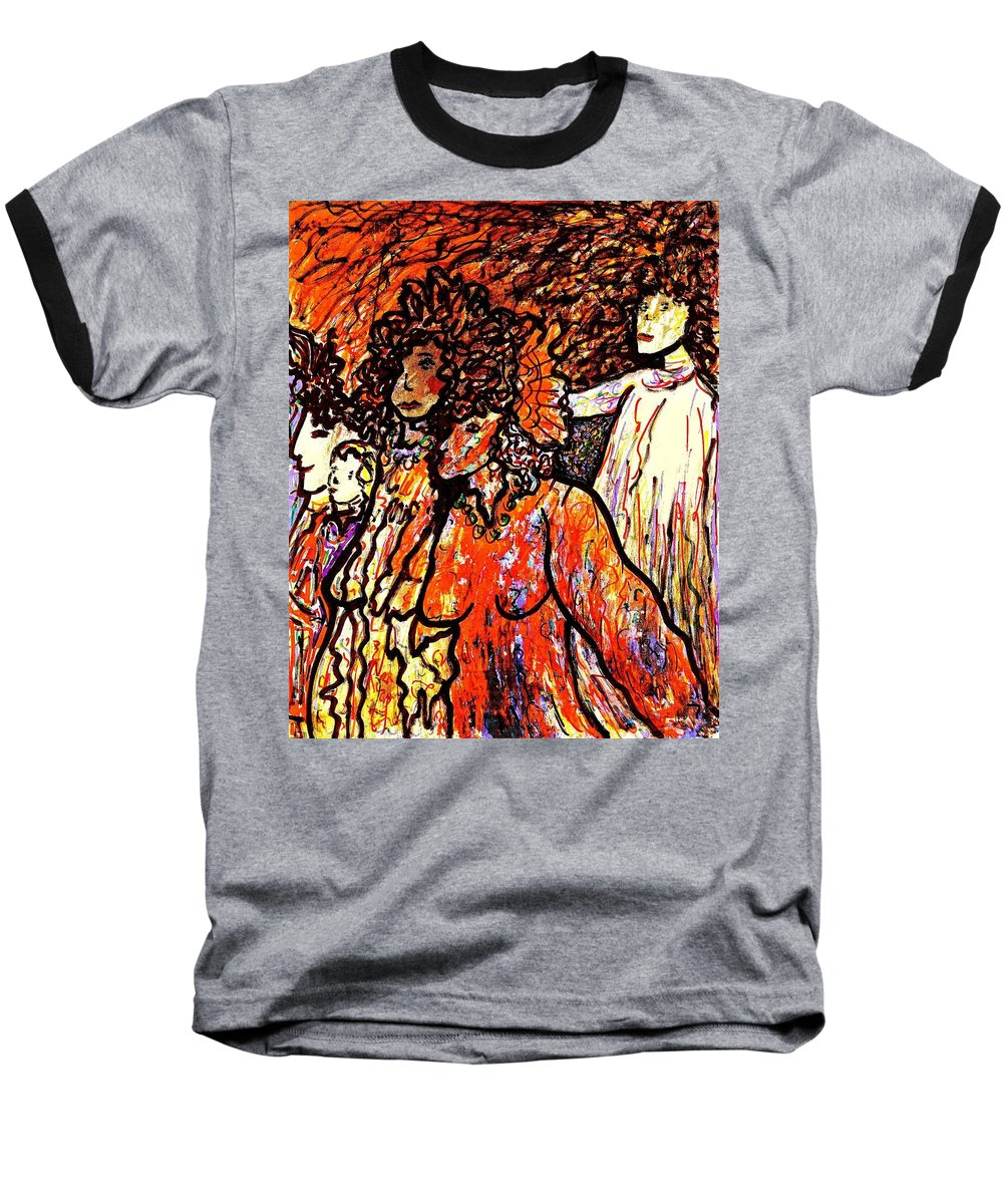 Figurative Art Baseball T-Shirt featuring the painting Musical Recital by Natalie Holland
