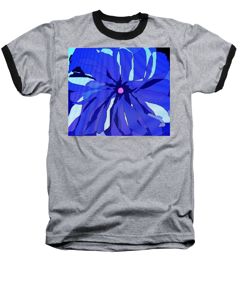 Flower Baseball T-Shirt featuring the digital art My Fantastic Flower by Ian MacDonald