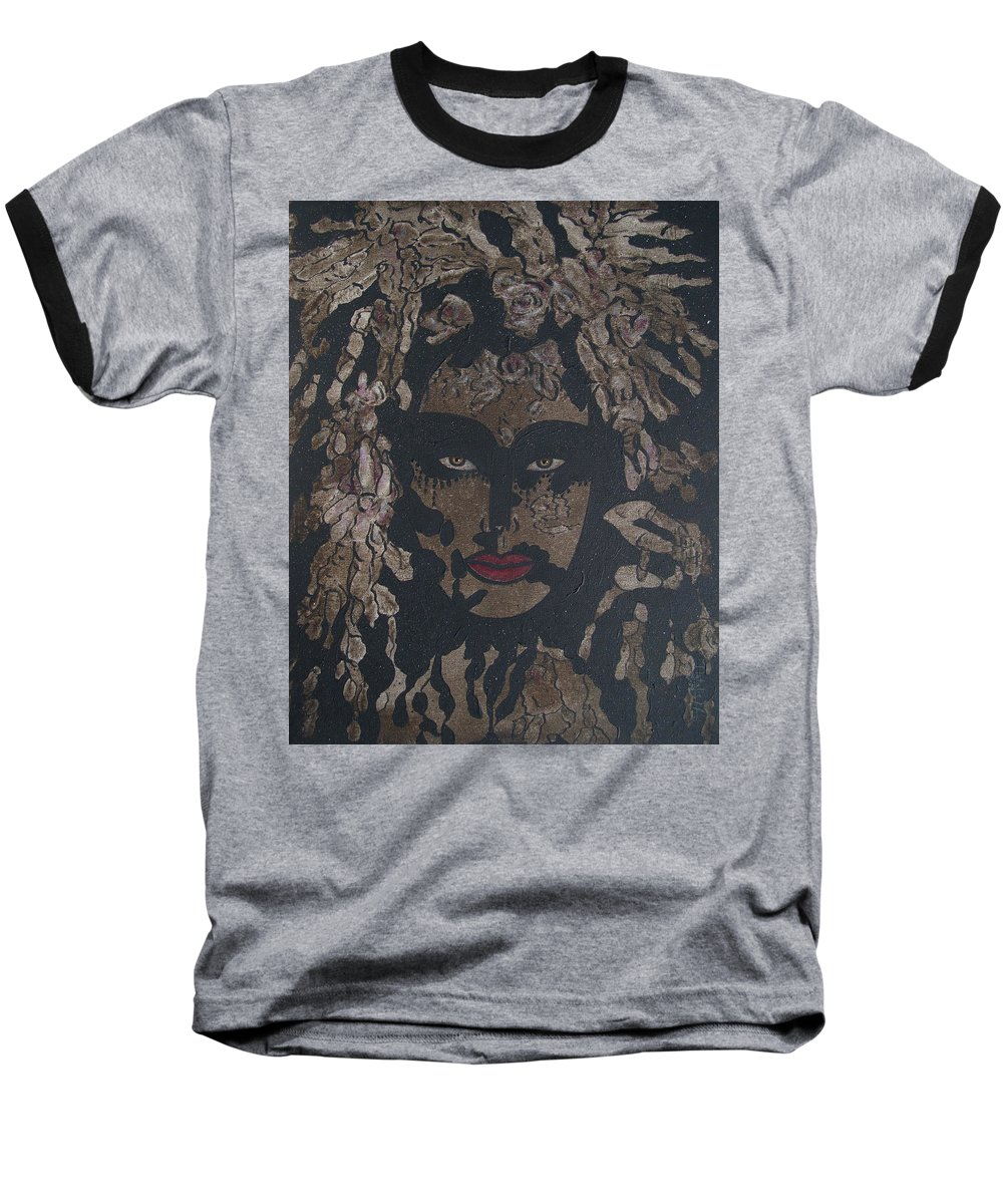 Figurative Baseball T-Shirt featuring the painting Mysterious Desire by Natalie Holland