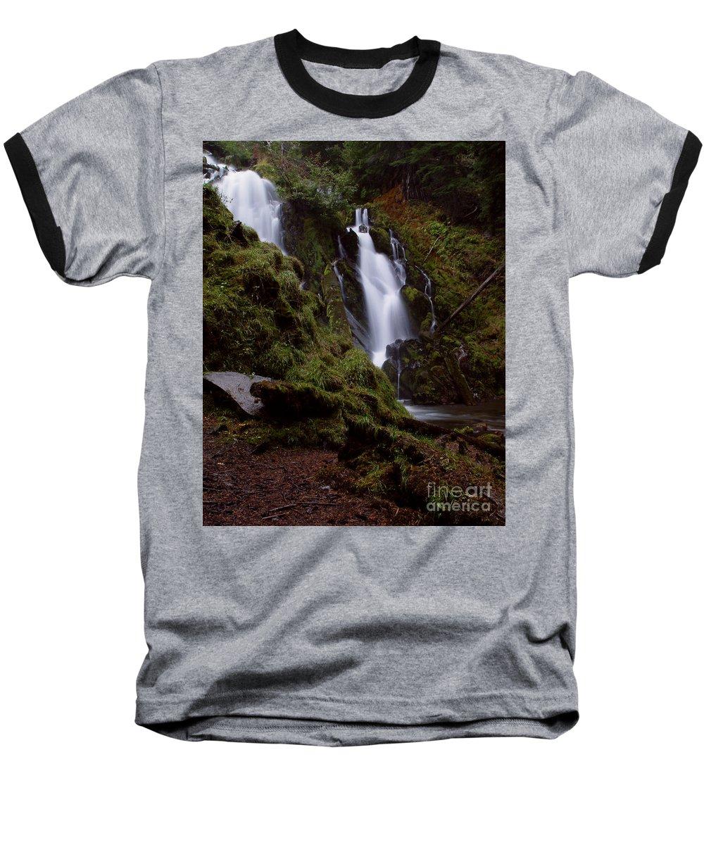 Waterfall Baseball T-Shirt featuring the photograph National Creek Falls 04 by Peter Piatt
