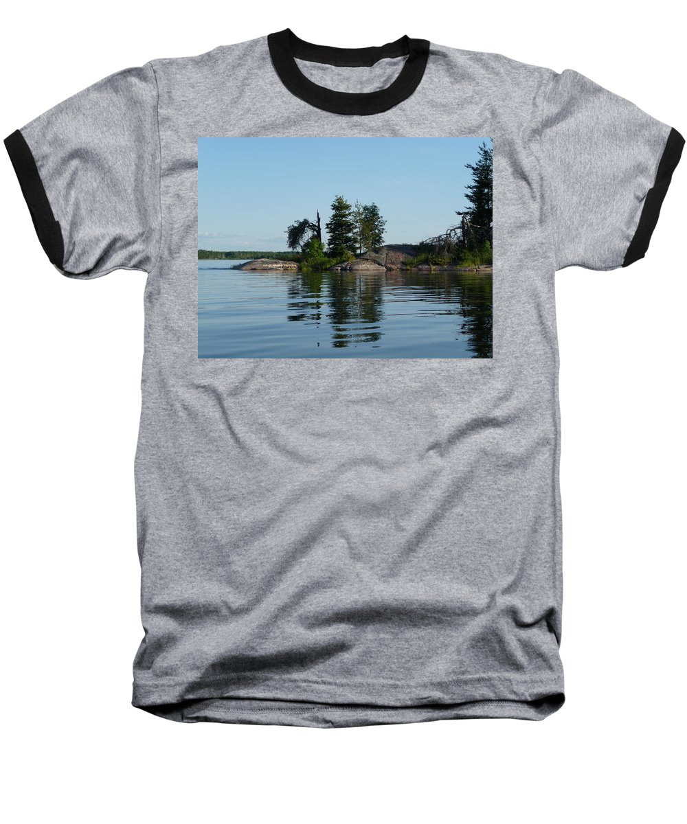 Lake Baseball T-Shirt featuring the photograph Natural Breakwater by Ruth Kamenev