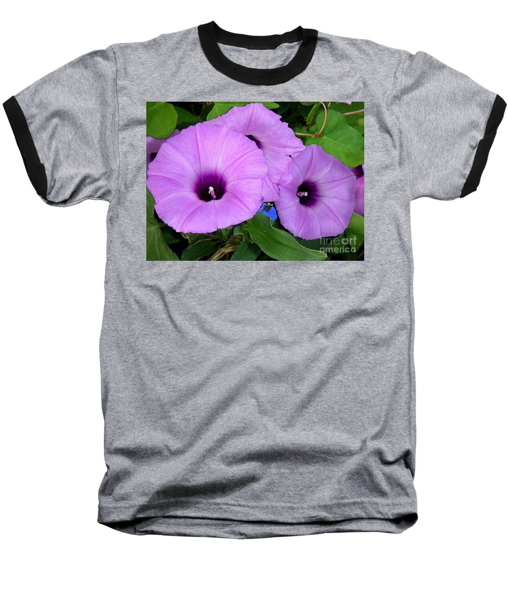 Nature Baseball T-Shirt featuring the photograph Nature In The Wild - Morning Bells by Lucyna A M Green
