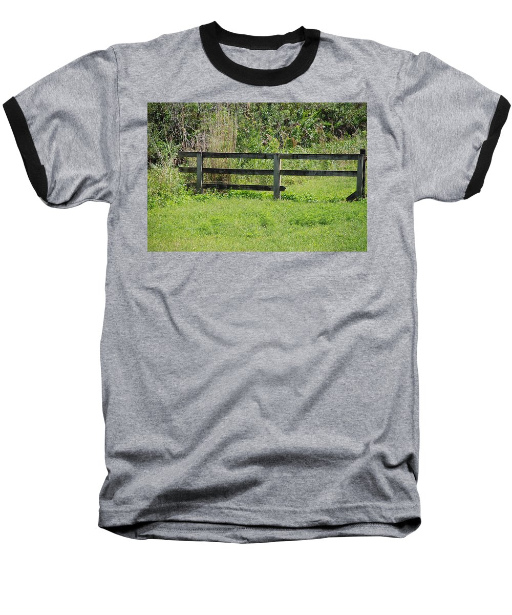 Fence Baseball T-Shirt featuring the photograph Natures Fence by Rob Hans