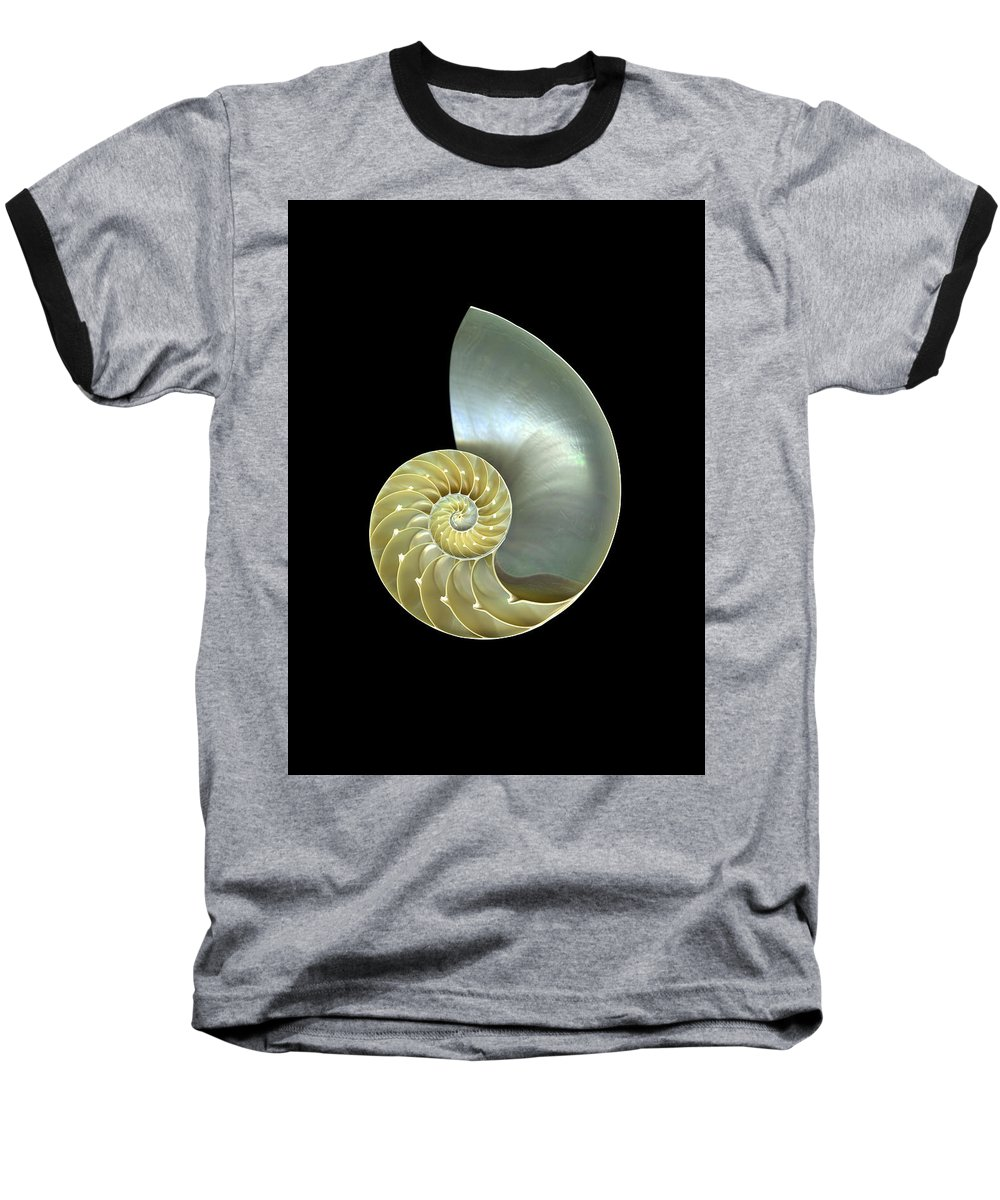 Slanec Baseball T-Shirt featuring the photograph Nautilus Nr.1 by Christian Slanec