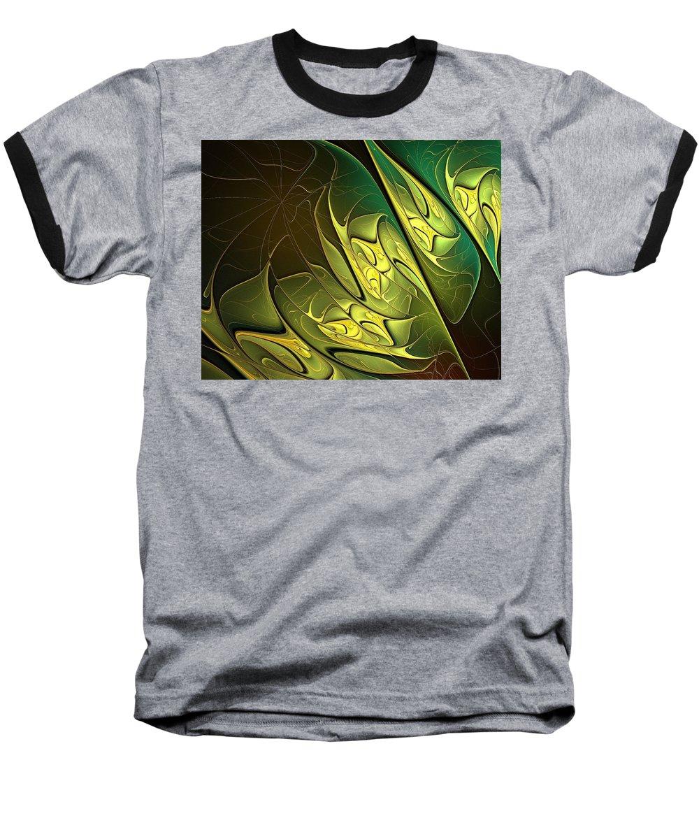 Digital Art Baseball T-Shirt featuring the digital art New Leaves by Amanda Moore