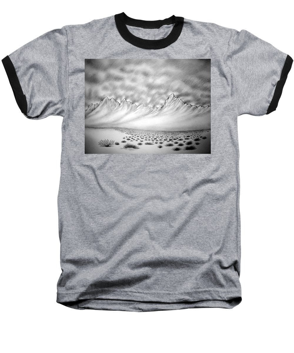 Baseball T-Shirt featuring the drawing New Mexico Passage by Marco Morales