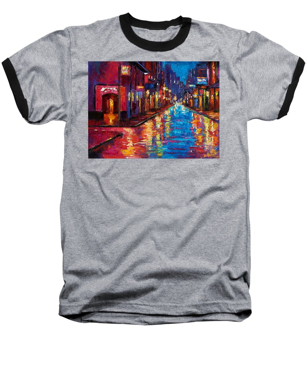 New Orleans Baseball T-Shirt featuring the painting New Orleans Magic by Debra Hurd