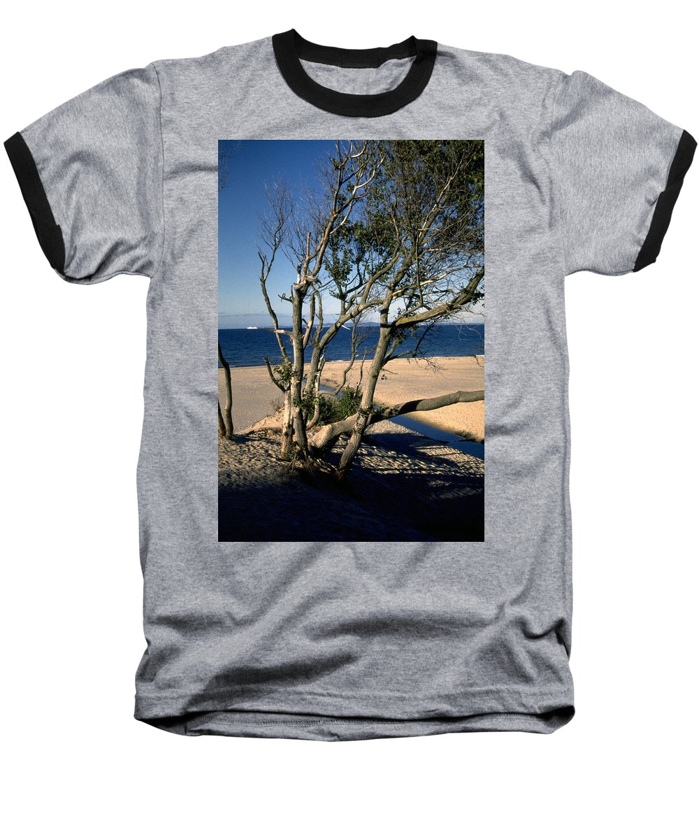 Denmark Baseball T-Shirt featuring the photograph Nordic Beach by Flavia Westerwelle