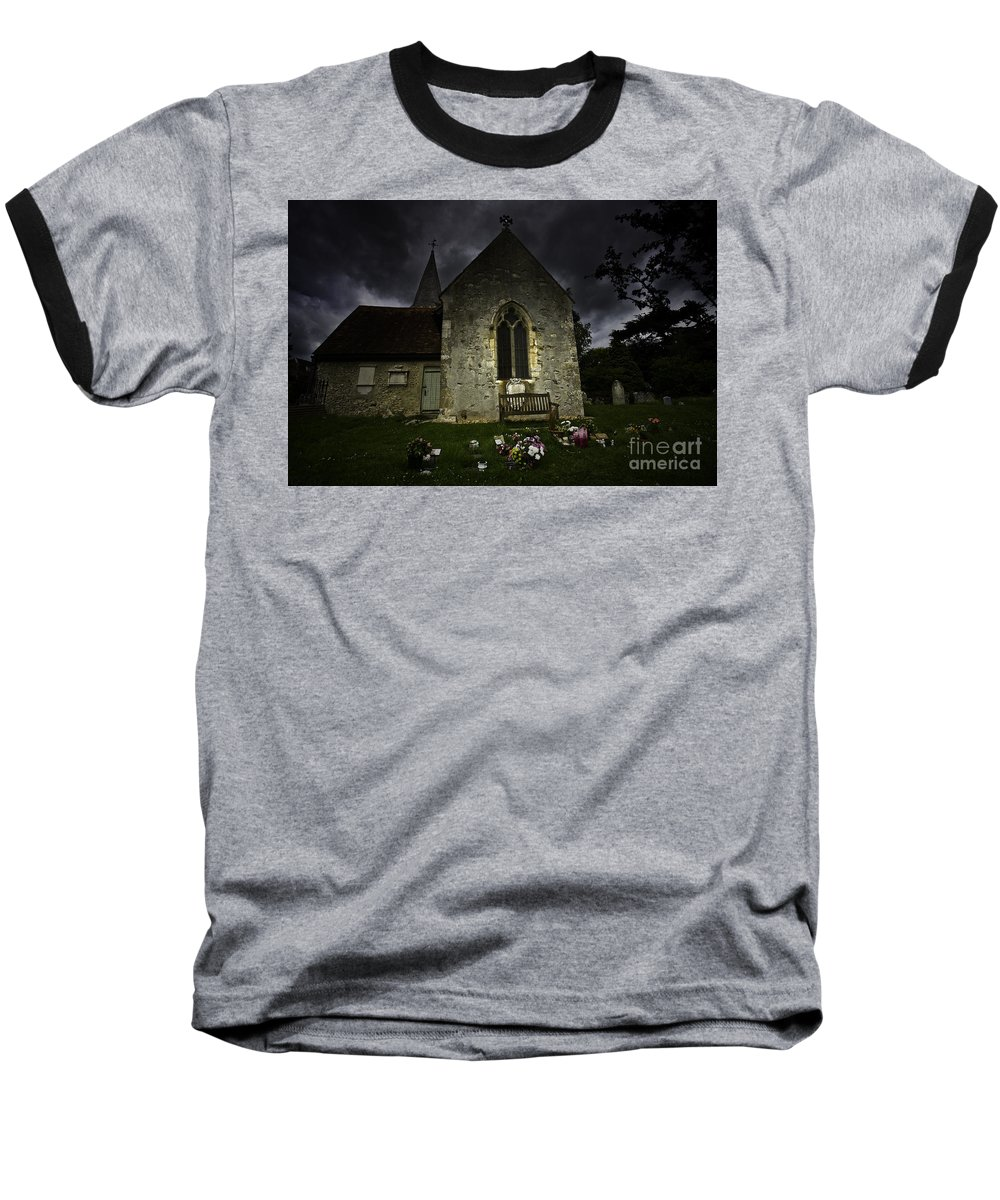 Church Baseball T-Shirt featuring the photograph Norman Church At Lissing Hampshire England by Avalon Fine Art Photography