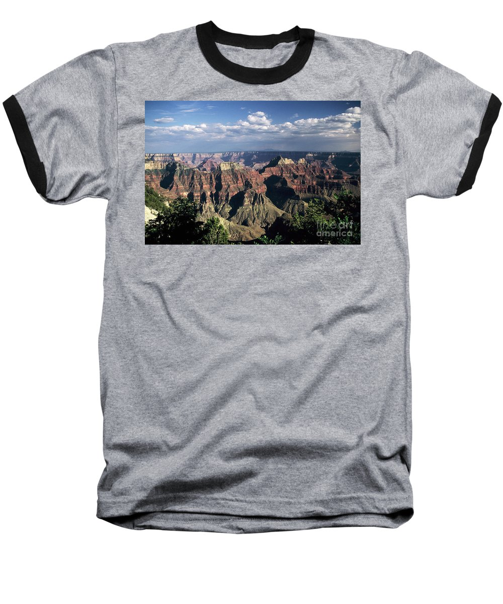 Grand Canyon; National Parks Baseball T-Shirt featuring the photograph North Rim by Kathy McClure