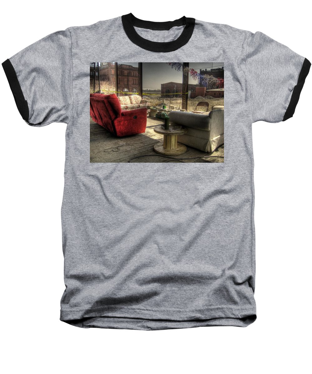 Hdr Baseball T-Shirt featuring the photograph North St. Louis Porch by Jane Linders