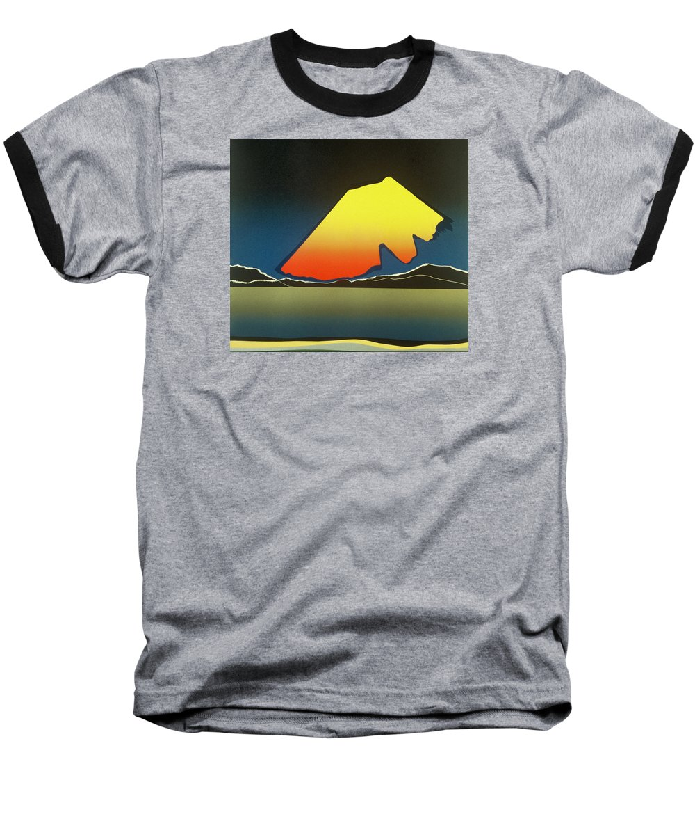 Landscape Baseball T-Shirt featuring the mixed media Northern Light. by Jarle Rosseland
