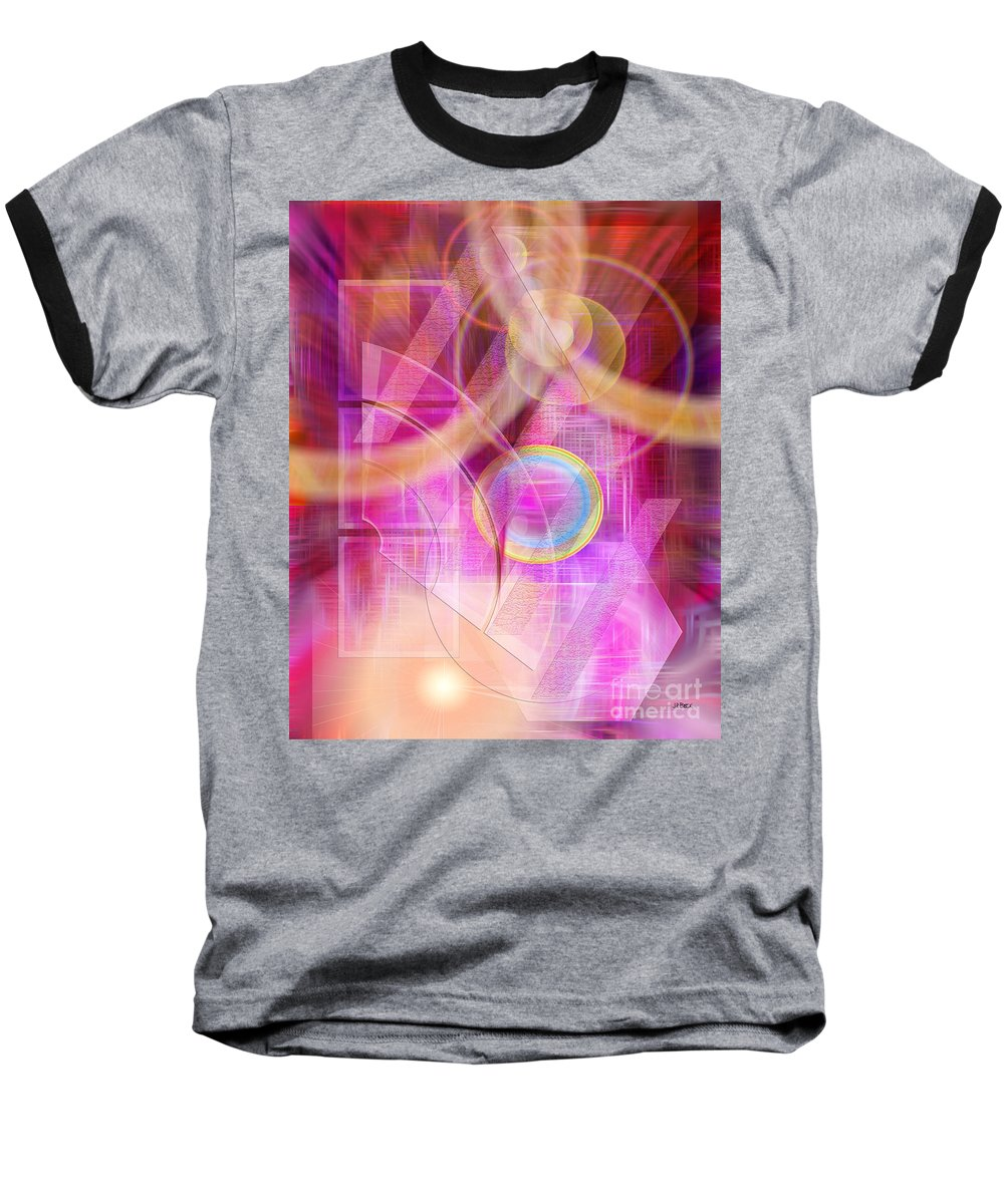 Northern Lights Baseball T-Shirt featuring the digital art Northern Lights by John Beck