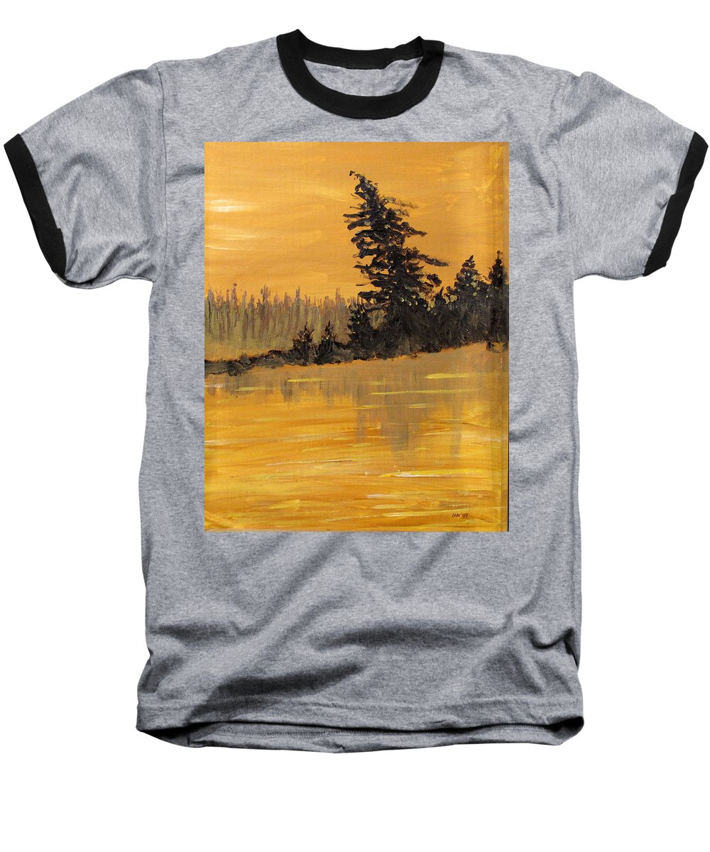Northern Ontario Baseball T-Shirt featuring the painting Northern Ontario Three by Ian MacDonald