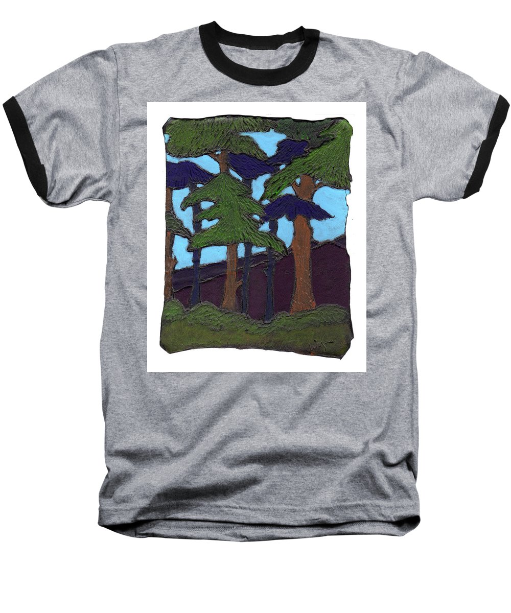 Tree Baseball T-Shirt featuring the painting Northern Woods by Wayne Potrafka