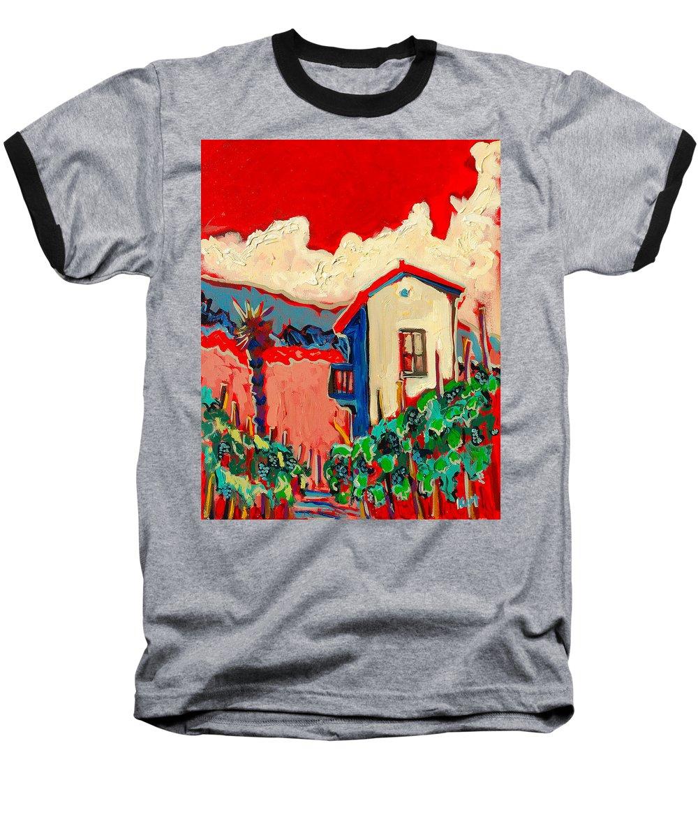 Tuscany Baseball T-Shirt featuring the painting Notare by Kurt Hausmann