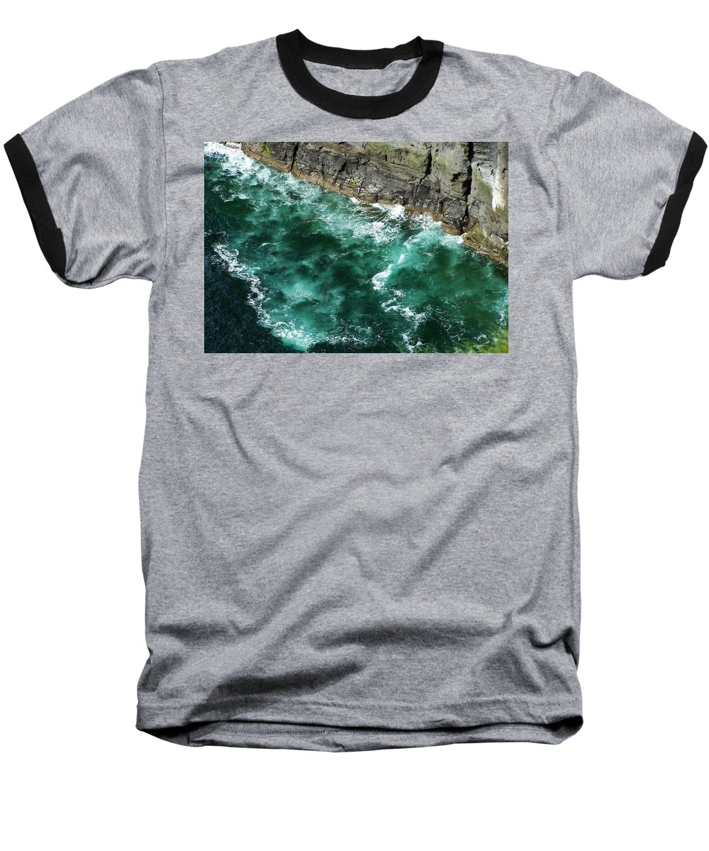 Irish Baseball T-Shirt featuring the photograph Nowhere To Go Cliffs Of Moher Ireland by Teresa Mucha