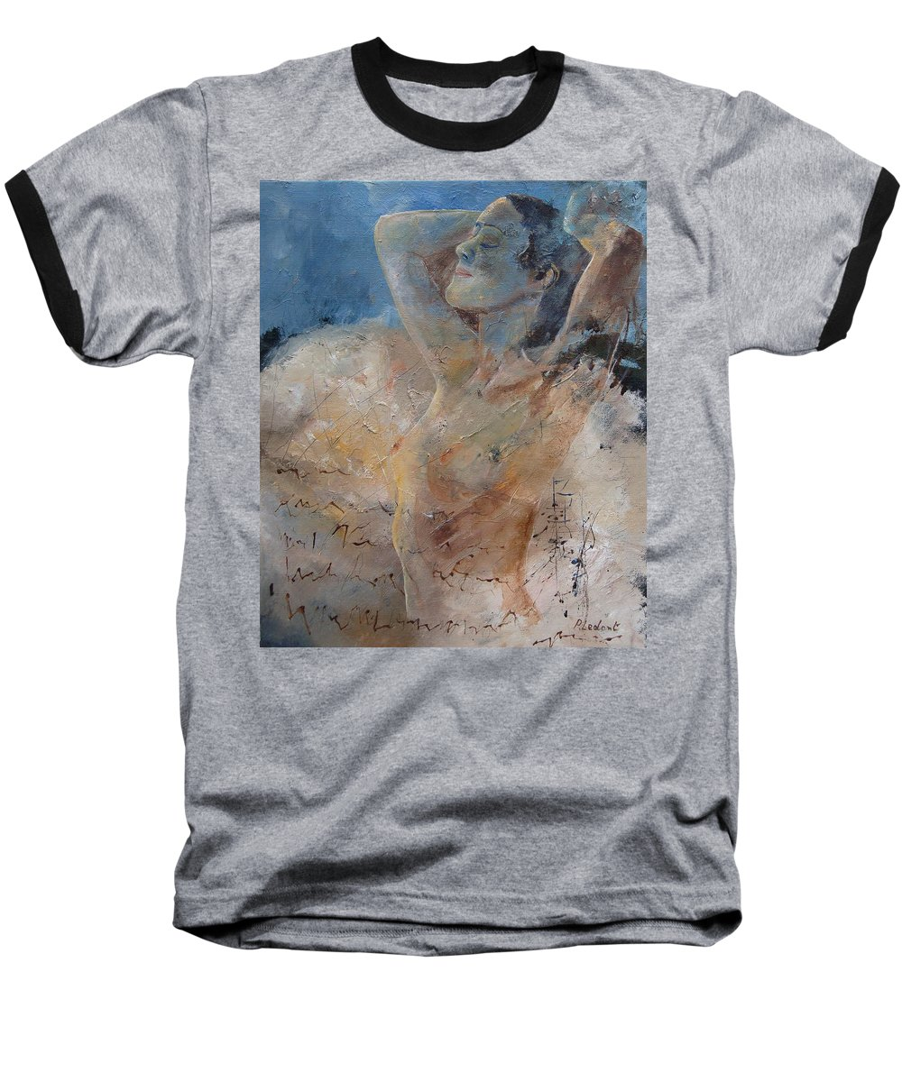 Nude Baseball T-Shirt featuring the painting Nude 0508 by Pol Ledent