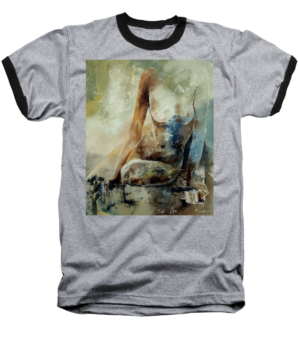 Nude Baseball T-Shirt featuring the painting Nude 560408 by Pol Ledent
