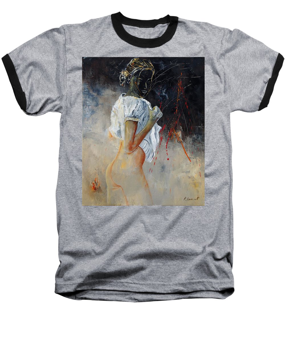 Nude Baseball T-Shirt featuring the painting Nude 560508 by Pol Ledent