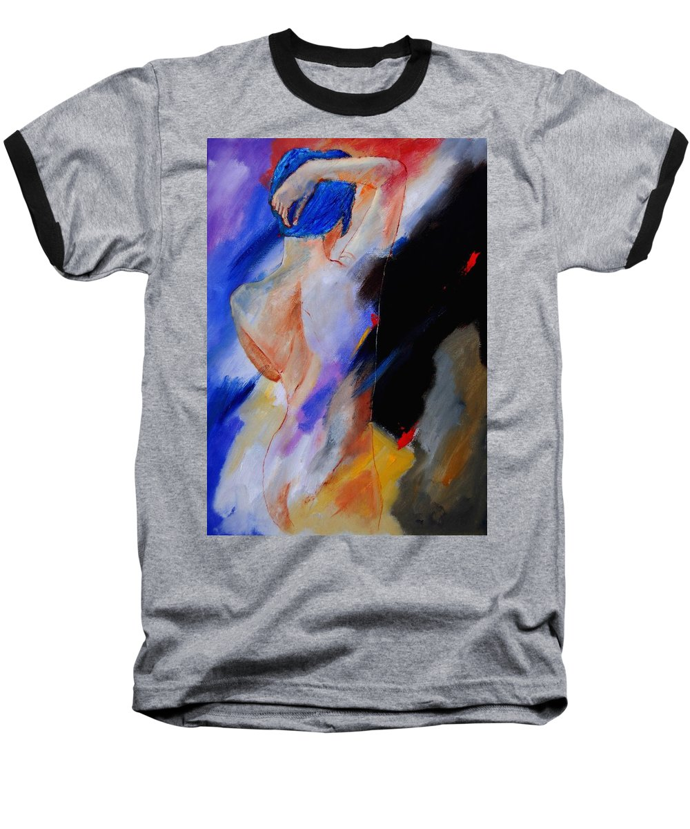 Nude Baseball T-Shirt featuring the painting Nude 579020 by Pol Ledent