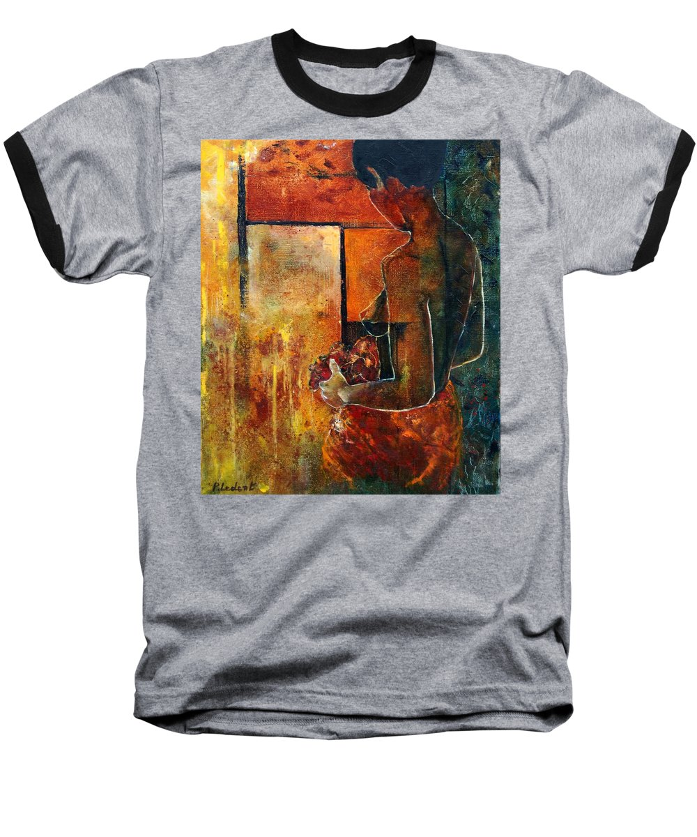 Woman Girl Fashion Nude Baseball T-Shirt featuring the painting Nude by Pol Ledent