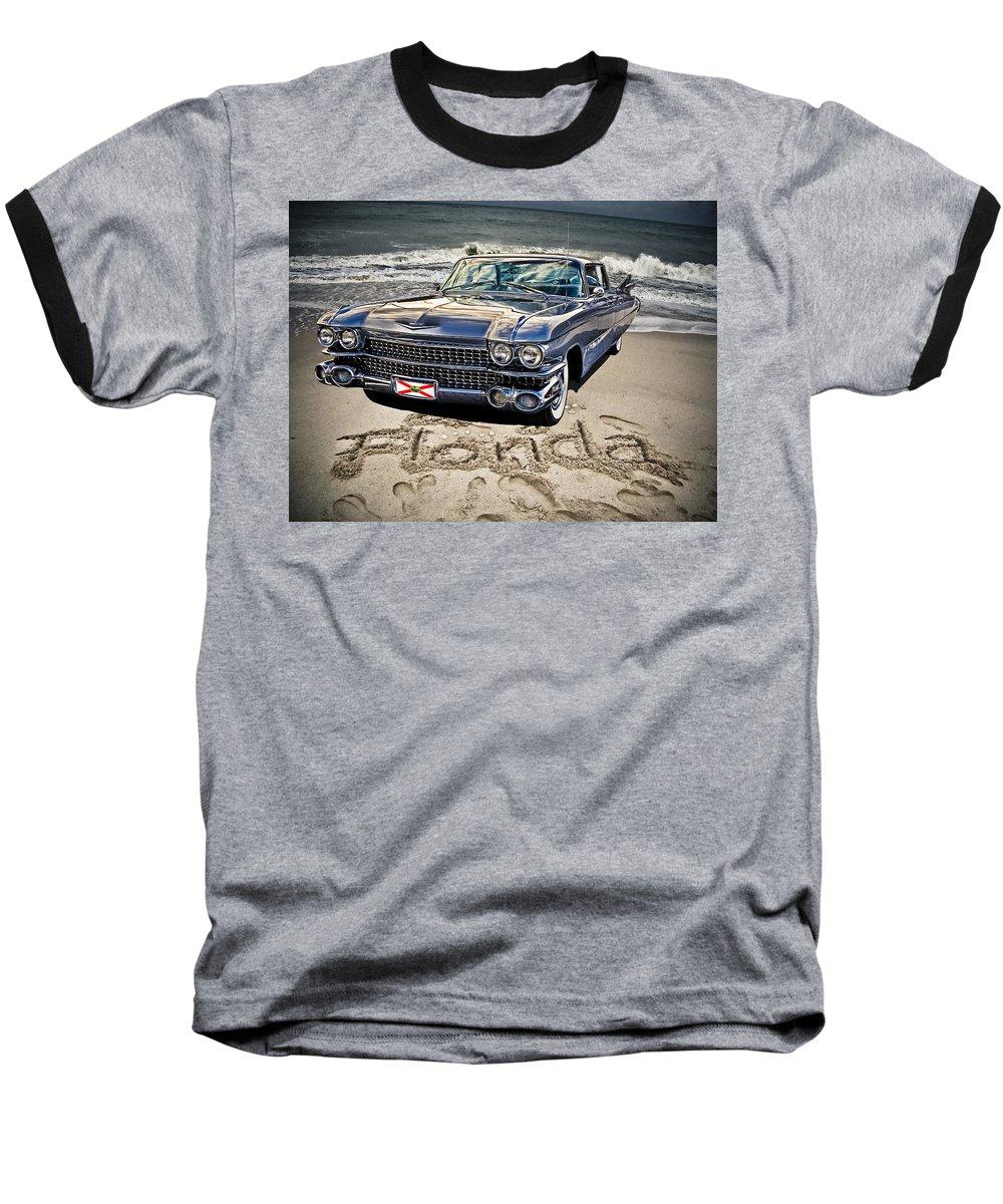 Cadillac Baseball T-Shirt featuring the photograph Ocean Drive by Joachim G Pinkawa