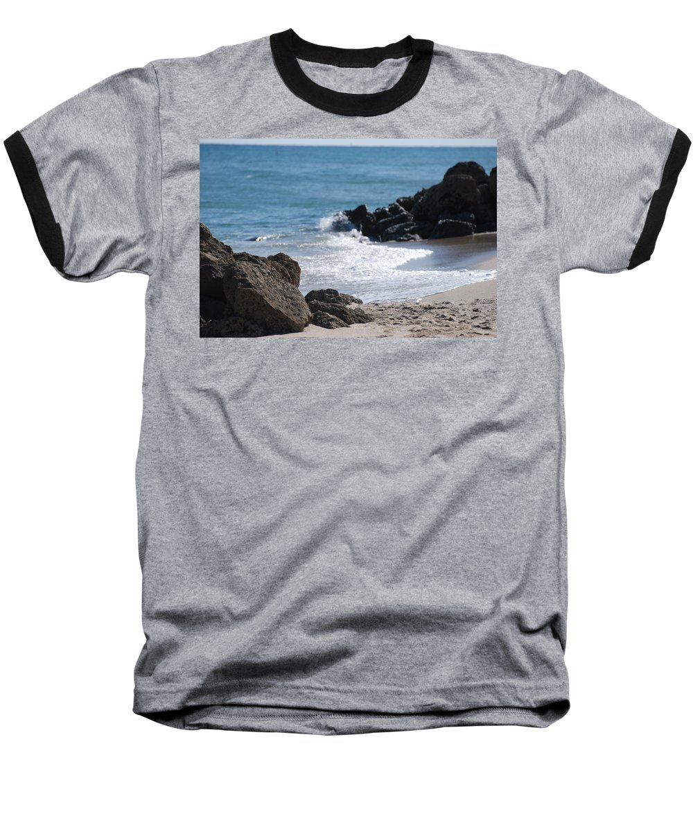 Sea Scape Baseball T-Shirt featuring the photograph Ocean Rocks by Rob Hans
