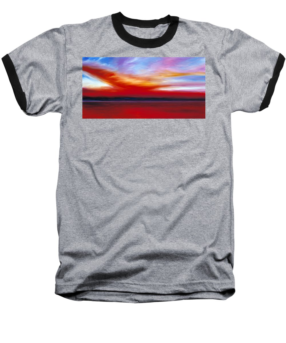 Clouds Baseball T-Shirt featuring the painting October Sky by James Christopher Hill