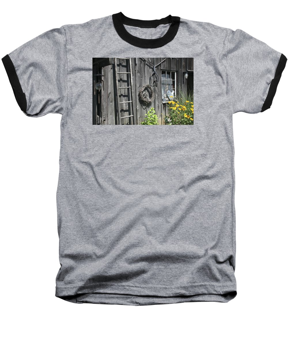 Barn Baseball T-Shirt featuring the photograph Old Barn II by Margie Wildblood