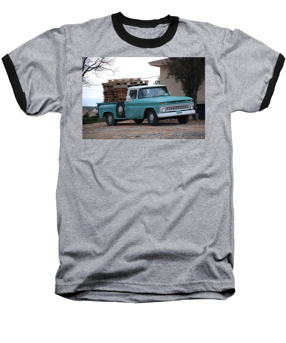 Old Truck Baseball T-Shirt featuring the photograph Old Chevy by Rob Hans