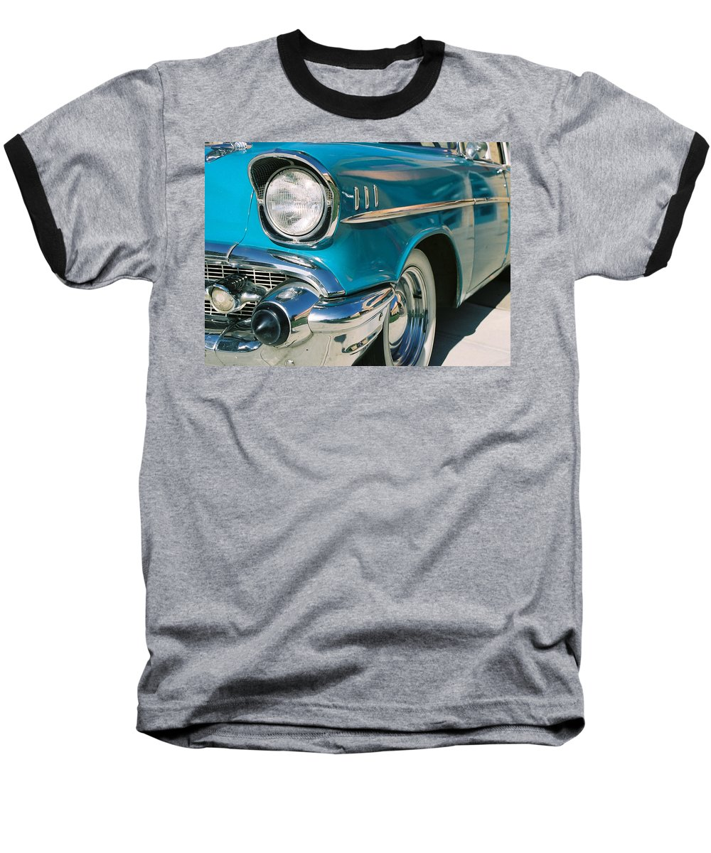 Chevy Baseball T-Shirt featuring the photograph Old Chevy by Steve Karol