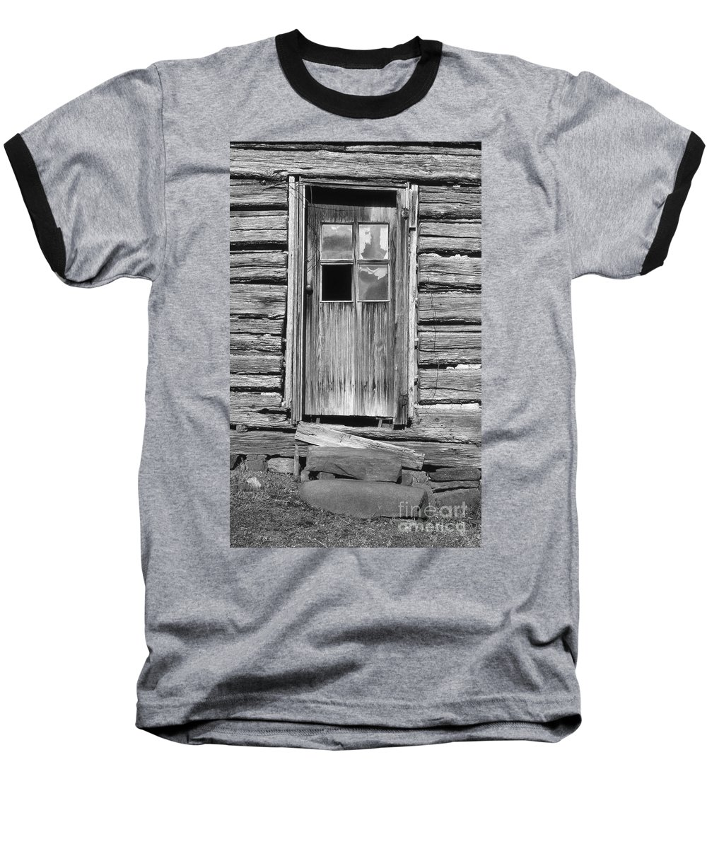 Aged Baseball T-Shirt featuring the photograph Old Door by Richard Rizzo