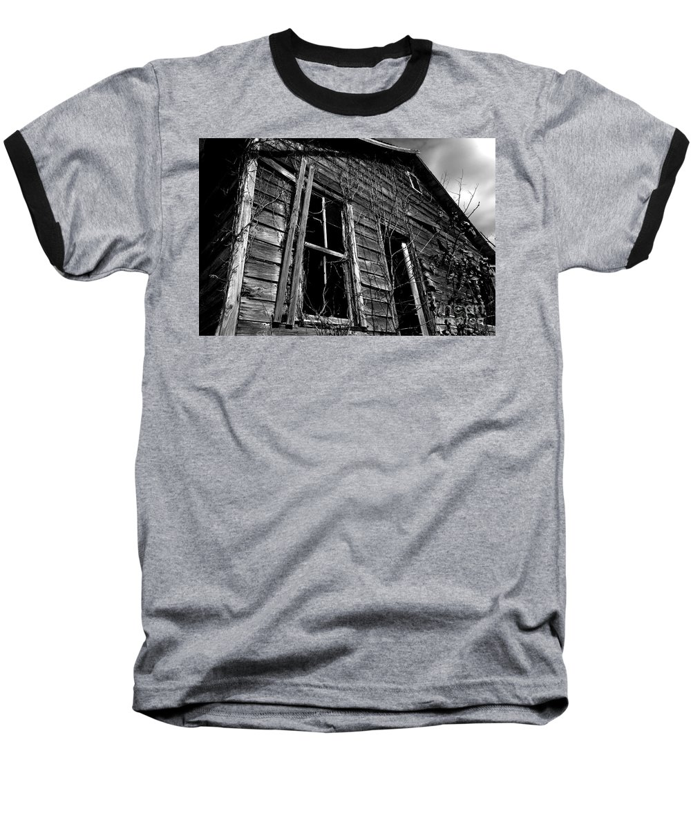 old House Baseball T-Shirt featuring the photograph Old House by Amanda Barcon