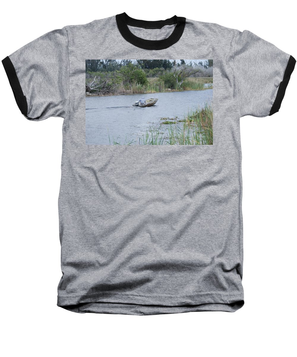 River Baseball T-Shirt featuring the photograph Old Man River by Rob Hans
