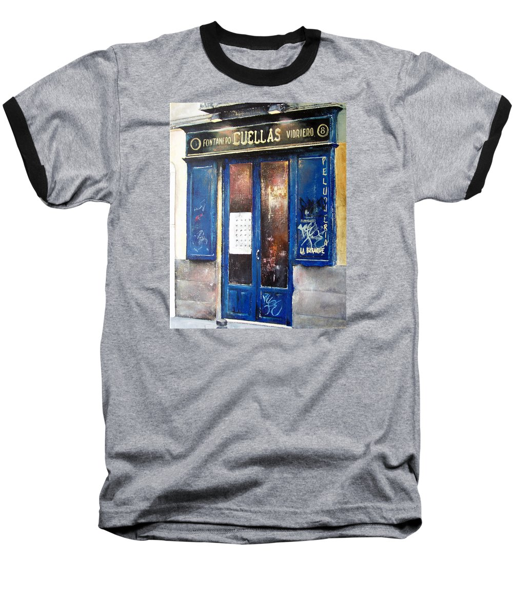Old Baseball T-Shirt featuring the painting Old Plumbing-madrid by Tomas Castano
