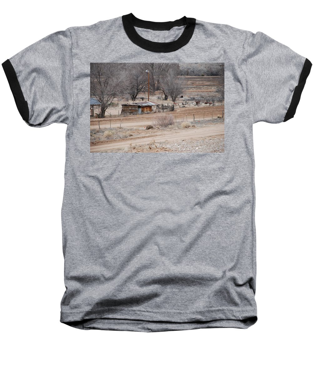House Baseball T-Shirt featuring the photograph Old Ranch House by Rob Hans