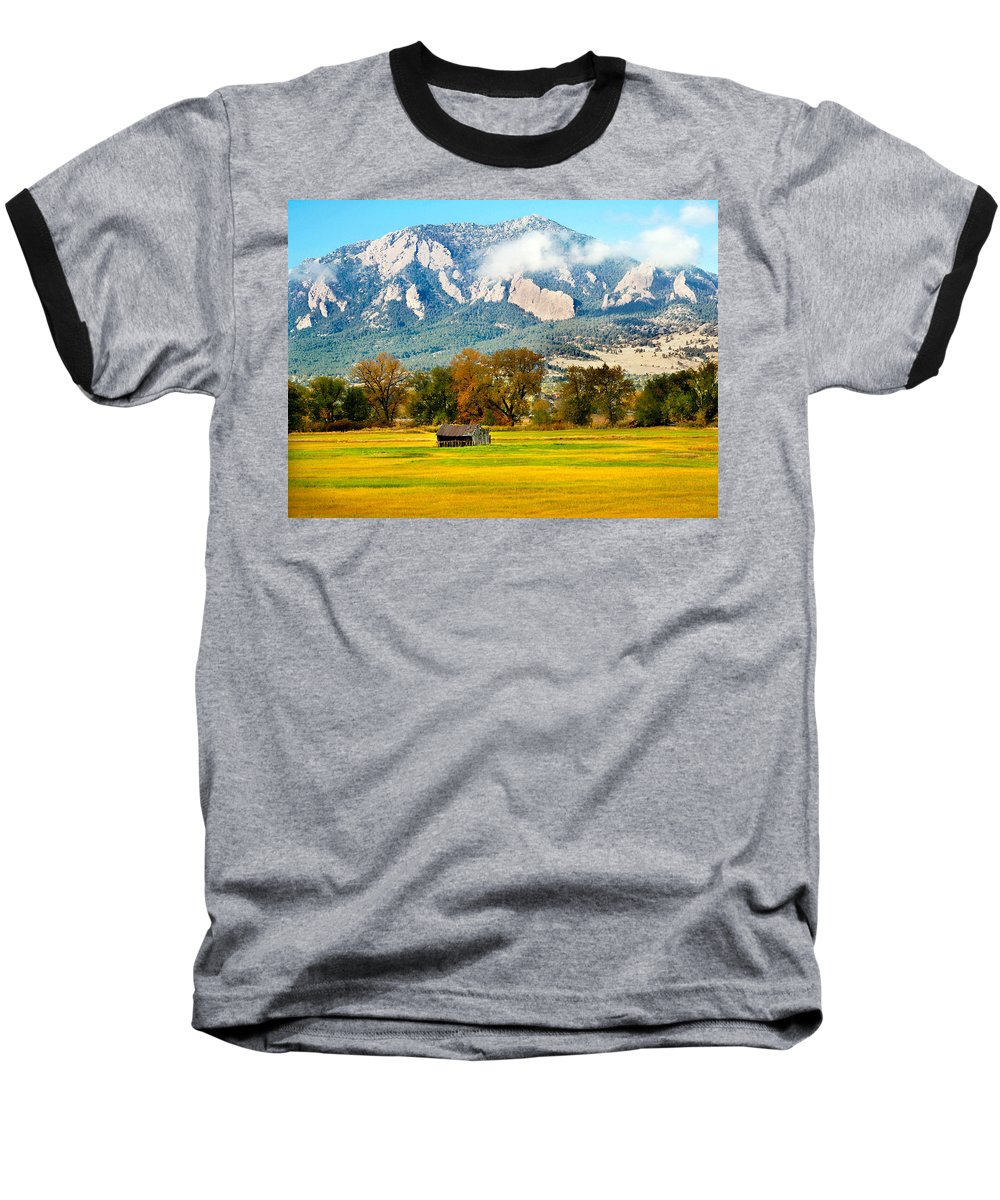 Rural Baseball T-Shirt featuring the photograph Old Shed by Marilyn Hunt
