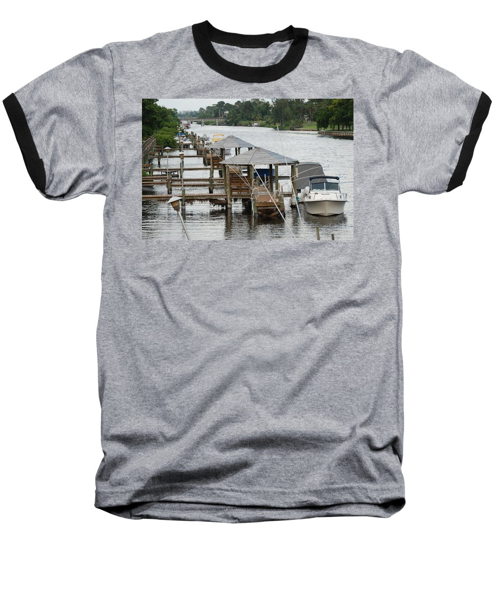 Boats Baseball T-Shirt featuring the photograph On The Hillsboro Canal by Rob Hans
